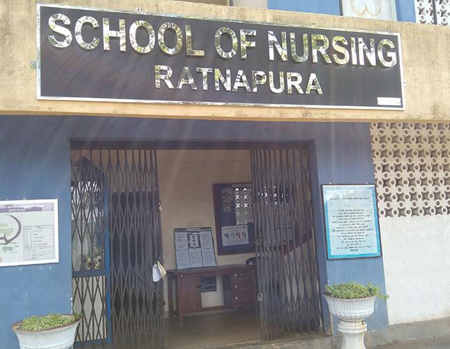 Display of poster at Rathnapura Teaching Hospital