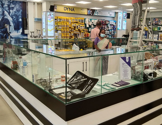 display products at union chemists